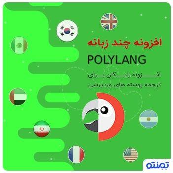 افزونه چند زبانه polylang