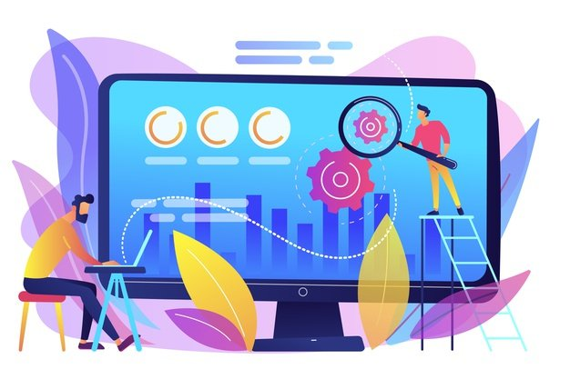 cro analyst specialist increase customers percentage conversion rate optimization digital marketing system lead attraction marketing concept bright vibrant violet isolated illustration 335657 235