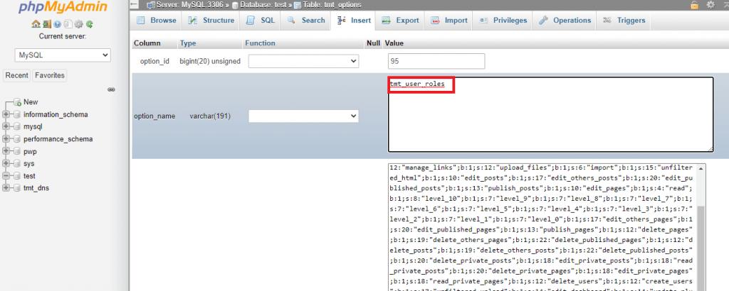 prefix database edit new wp options user roles