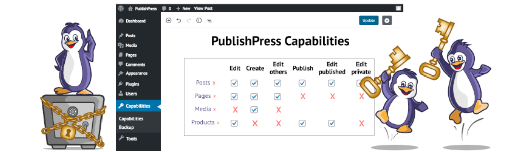 PublishPress-Capabilities-مدیریت دسترسی کاربران